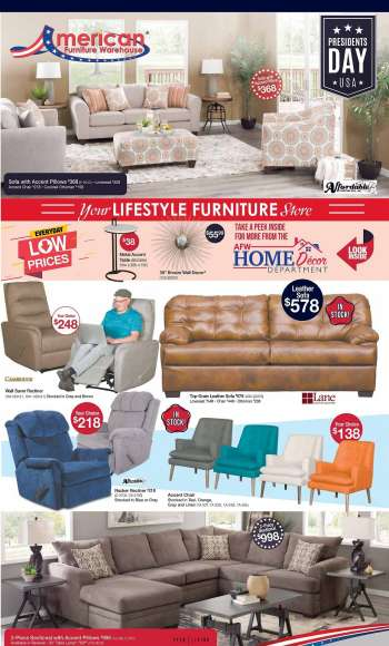 American Furniture Warehouse Flyer - 02.13.2021 - 02.20.2021.
